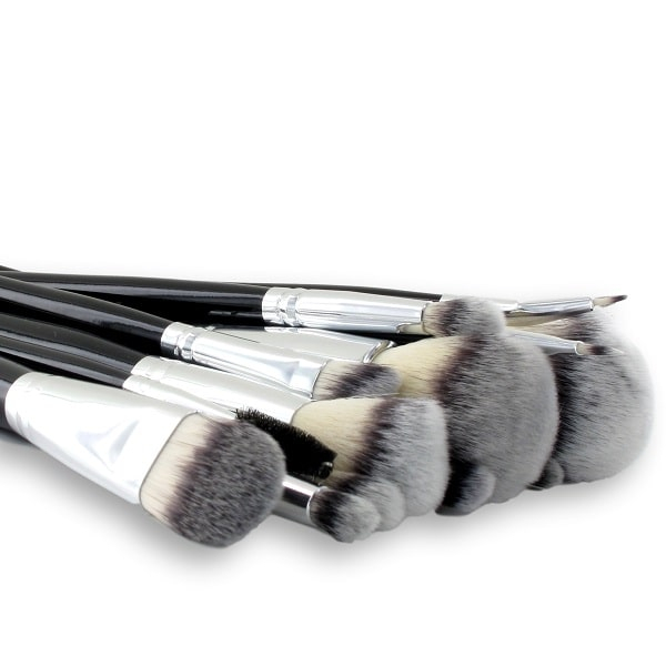 Professional 10-piece synthetic brush set