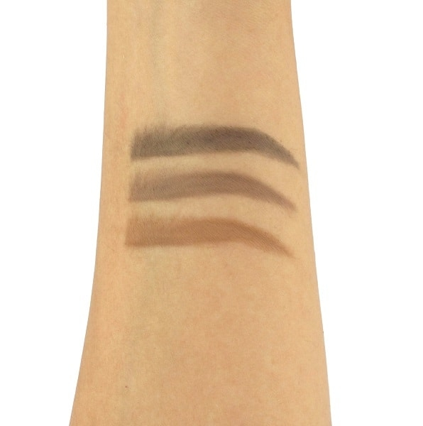 eyebrow powder colour swatches light medium dark