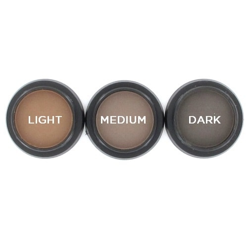 3 pressed eyebrow powder shades