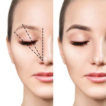 measuring eyebrows